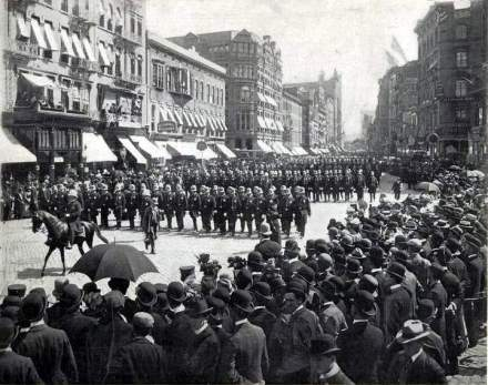 New York City police parade, 1899