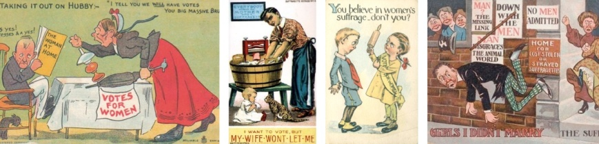 3-7 Anti-suffrage cartoons